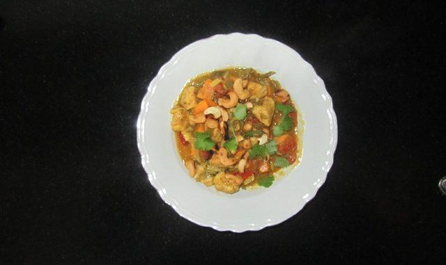 Curry met kip en zoete aardappel