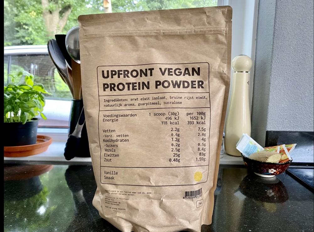 Upfront vegan protein powder